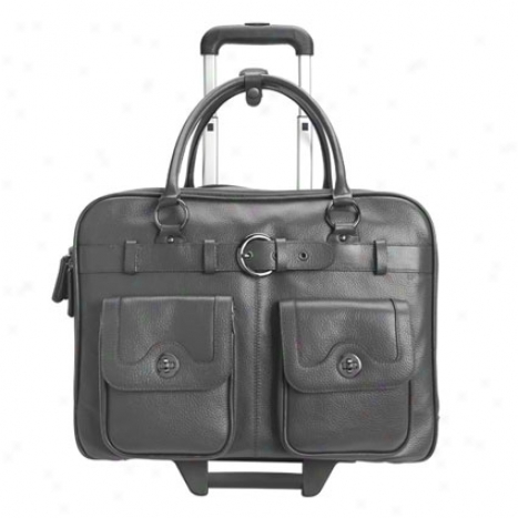 Amelia Rolling Laptop Case - Charcoal