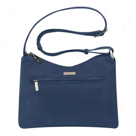 Anti-theft Hobo Bag -  Navy Nylon