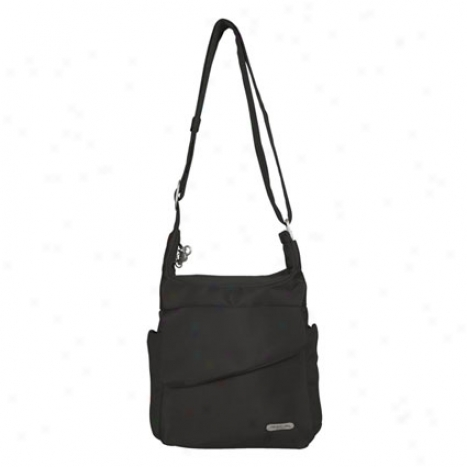 Anti-theft Messenger Bag -  Black Nylon