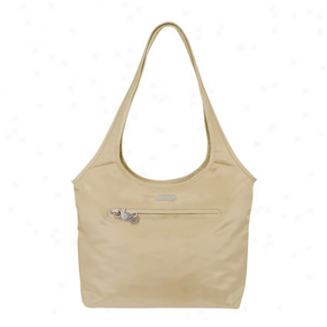 Anti-theft Shopper -  Tan Nylon