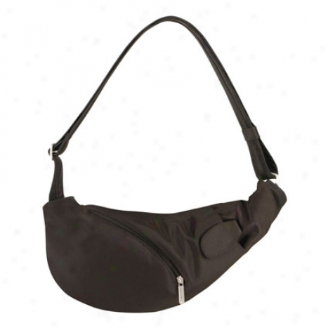 Anti-theft Sling Bag -  Black Nylon