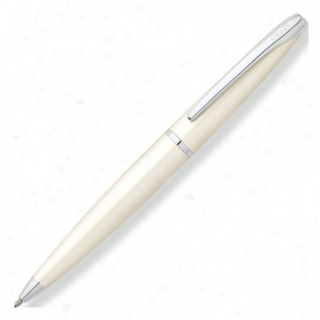 Atx Ballpoint Pen Personaliz3d By Cross - Pearlescent White Lacquer