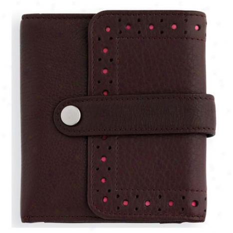 Autocross Bi-fold Specie Zip Wallet - Brown/pink