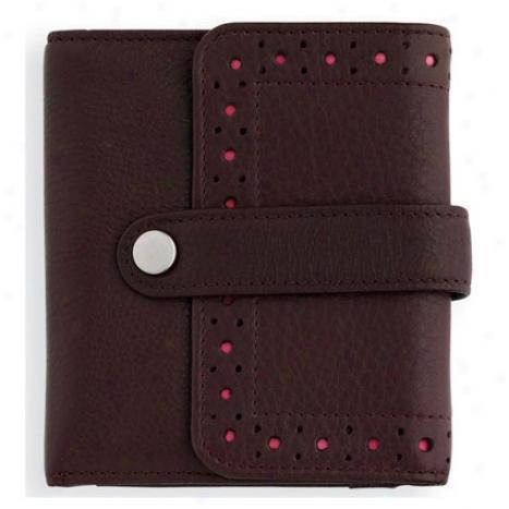 Autocross Bi-fold Specie Zip Wallet - Brown/pink