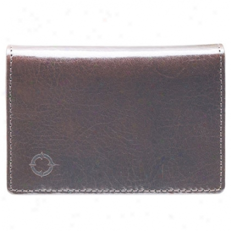 Bi-fold Vintage Leather Card Case - Brown