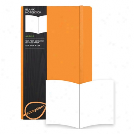 Blank Medium Flexi Cover Notebook By Ecosystem - Clementine