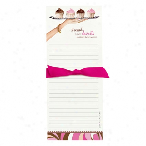 Bon Bon Notepad By Bonnie Marcus - Dessert Tray