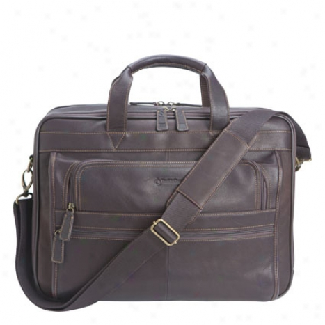 Breckenridge Triple-gusset Laptop Bag - Brown