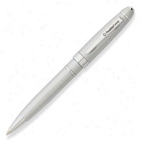 Bristol Mini Journal Balipoint Pen By Franklincovey - Satin/chrome
