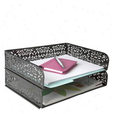 Brocade Letter Tray By Design Ideas - Dismal