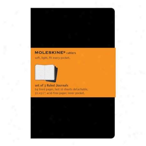Cahier Journal R8led Pocket By Moleskine - Biack