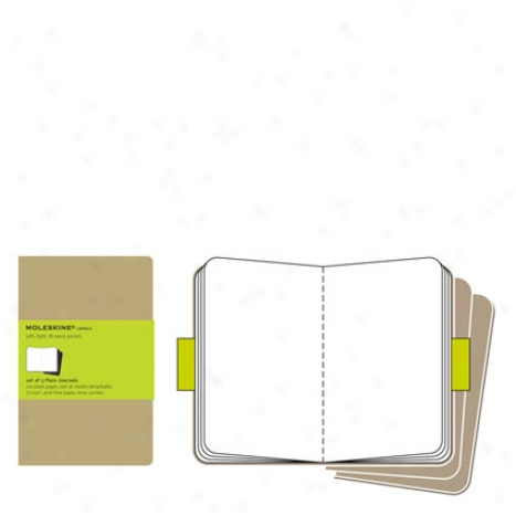Cahier Plain Diary X-large By Moleskine - Kraft