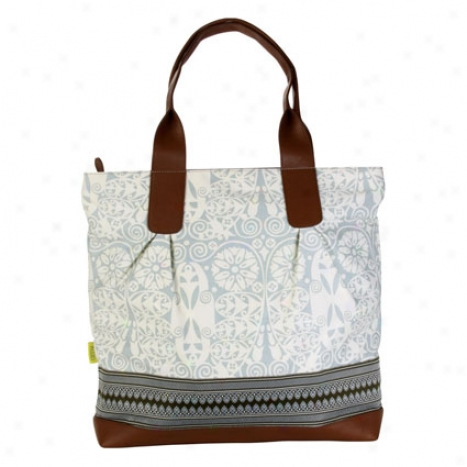 Cara Tote By Amy Butler - Temple Doors Dove Grey
