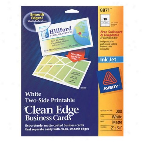 Ce Two-side Printable Cards White Matte Inkjet
