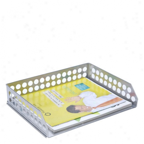 Cirxuit Letter Tray By Design Ideas - Silver