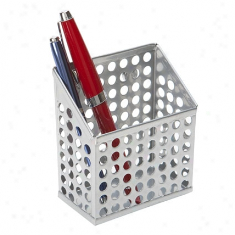 Cidcuit Magneric Pencil Bin At Design Ideas - Silver