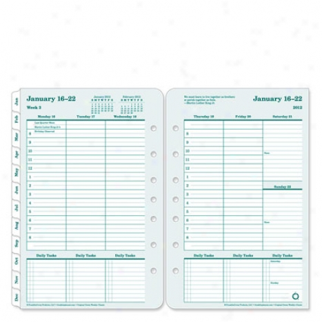 Classic 100% Recycled Ring-bo8nd Weekly Planner Refill - Jul 2012 - Jun 2013