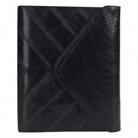 Classic Alexandria Leather Binder - Black