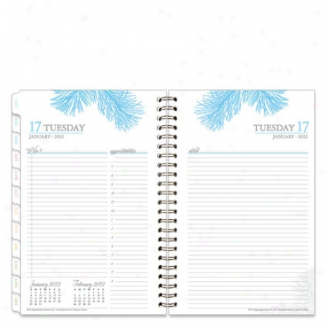 Classic Botanica Wire-bound Daily Planner - Jul 2012 - Jun 2013