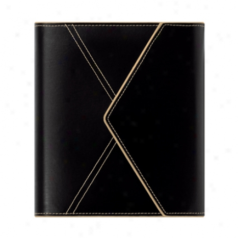 Classic Envelope Binder With Undated Sampler Refill - Black/ivory
