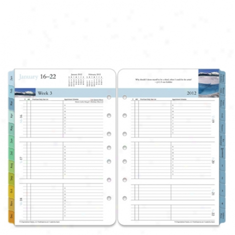 Classic Leadership Ring-bound Weekly Planner Refill - Jan 2012 - Dec 2012