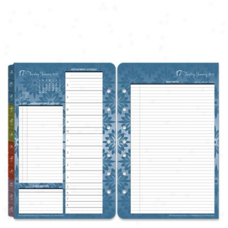 Classic Serenity Ring-bound  Daily Planner Refill - Jan 2012 - Dec 2012
