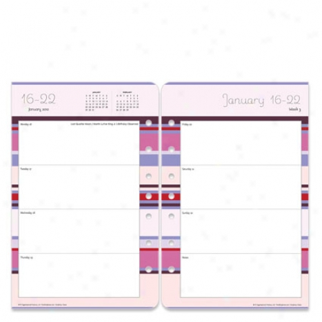 Classic Simplicity Ring-bound Weekly Plannner Refill - Jan 2012 - Dec 2012