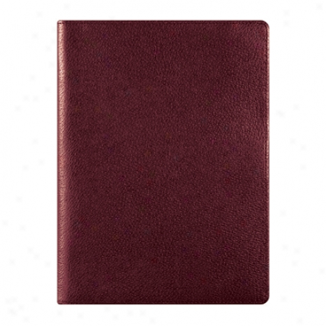 Classic Slim Leather Wire-bound Cover With Undated Sampler Refill - Cognac