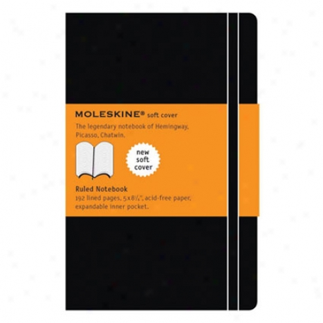 Classic Soft Notebook Ruled Lg By Moleskine - Black