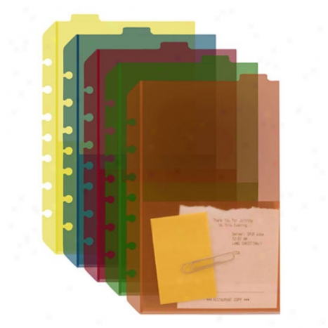 Classic Tabbed Distributer Pockets (set Of 5)