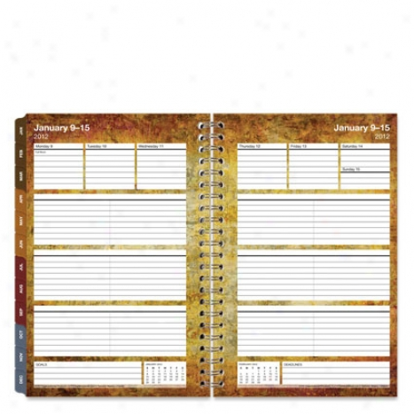 Classic Textures Wire-bound Weekly Planner Refill - Jan 2012 - Dec 2012