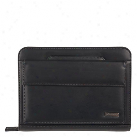 Classic Vinyl Binder With Handles And Pocket Binder - Black