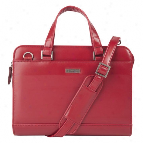 Classic Vinyl Binder With Handles - Red