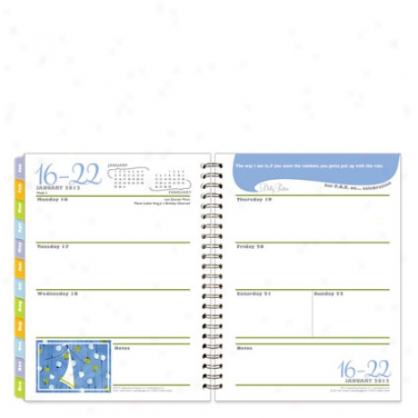 Clutch Her Point Of View Wire-bound Weekly Planner - Jan 2012 - Dec 2012