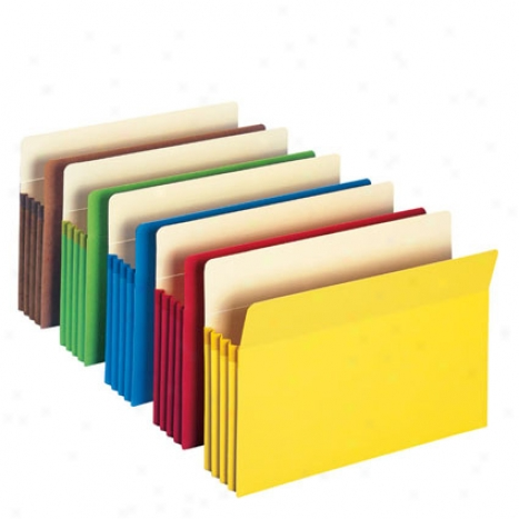 Colored File Pockets Literal meaning Size 5 Pk By Smead - Assorted Colors
