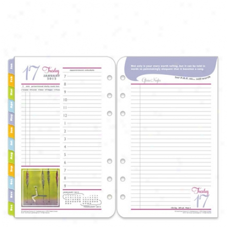 Compact Her Point Of View Ring-bound Daily Planner Refill - Jul 2012 - Jun 2013