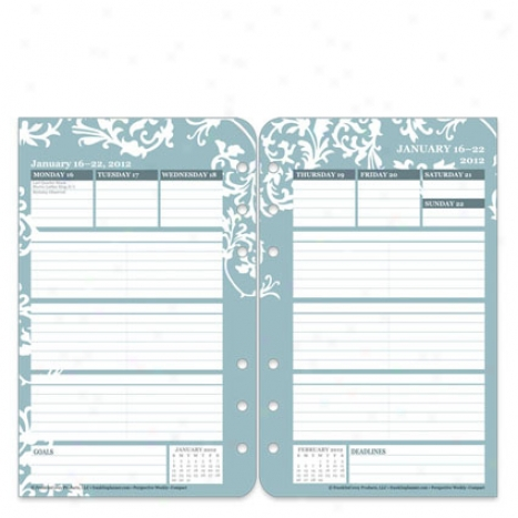 Compact Perspective Ring-bound Weekly Planner Refill - Jan 2012 - Dec 2012