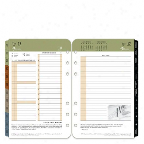 Compact The 7 Habits Ring-bound Daily Planner Refill - Jan 201 - Dec 2012