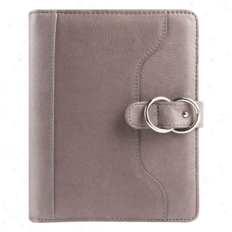 Press together Veronica Leather Snap Binder 1.125 - Charcoal