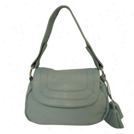 Convenience Leather Shoulder Bag By Donna Bella Designs - Blue