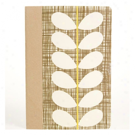 Cross-hatch Stem Comp Notebook Graph By Orla Kiely - Brown