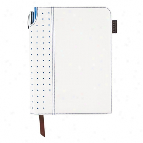 Cross Signature Medium Journal -  White/royal Blue By Intermix
