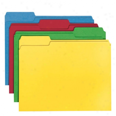 Cutlass Folders, Assorted Colors, 1/3-cuy Tab, Letter Size, Pack Of 24