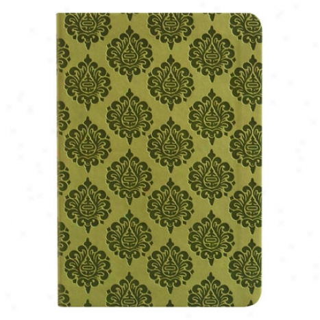 Damask Journap By Eccolo - Effeminate Green