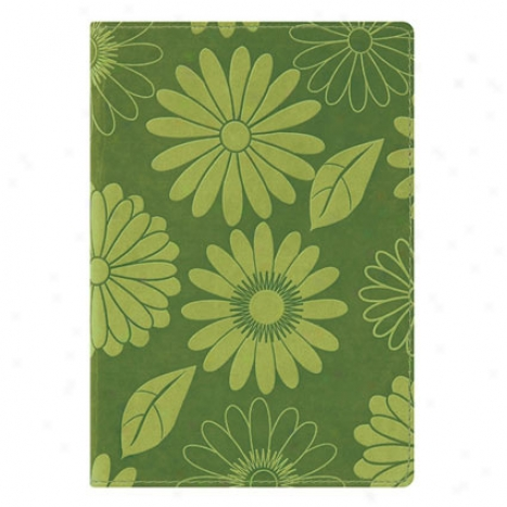 Debossed Italian Leatherette Journal - Green