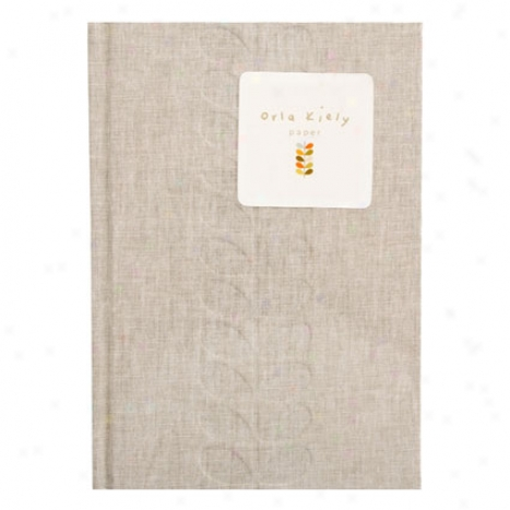 Debossed Stem Journal By Orla Kiely - Light Grey