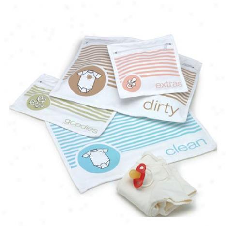 Diaper Bag Organiaer Pouches (set Of 4) By O.r.e. Originals