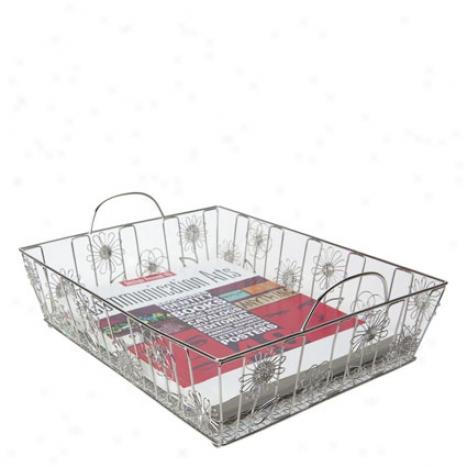 Doodles Basket By Design Ideas - Petals