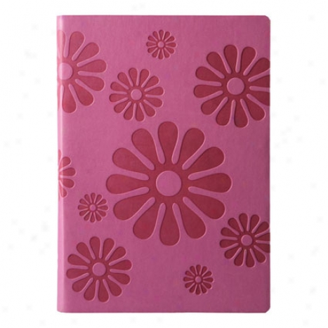 Eccolo Floral Lined Journal - Pink