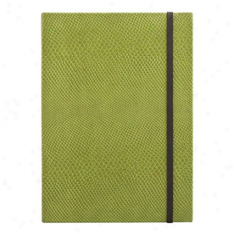 Eccolo Lizard Lined Journal - Green